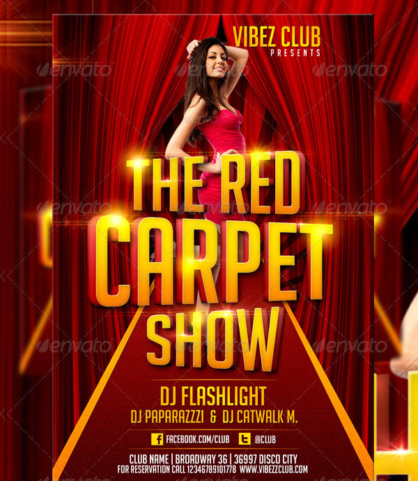 Popular Red Carpet Show Flyer Template