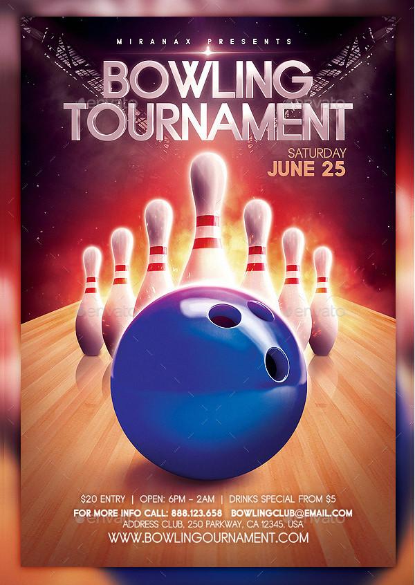 Championship Bowling PSD Flyer