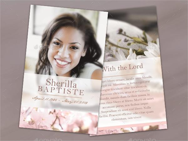Best Funeral Program Prayer Card
