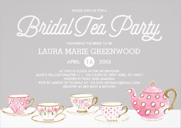 Chic Bridal Tea Party