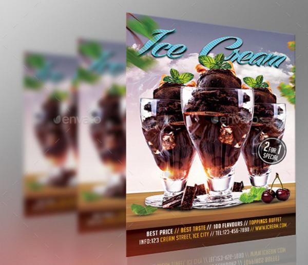 Chocolate Ice Cream Celebration Flyer