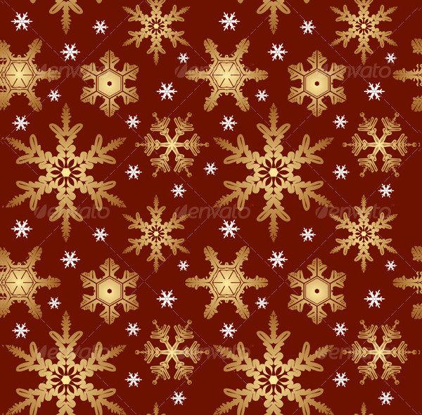 Clean Snowflakes Texture Vector