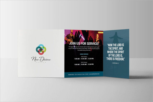 Cool Church PSD Brochure Template