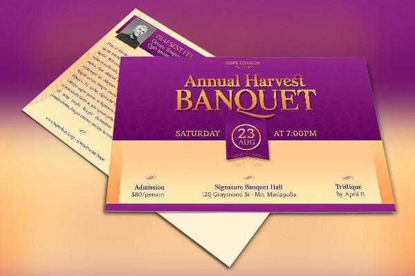 Church Banquet Invitation Template