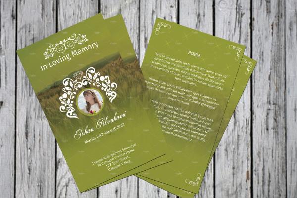 Church Event Funeral Prayer Card Template