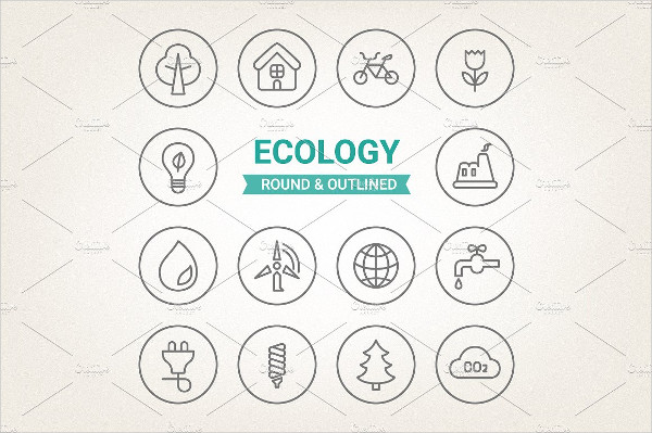 Ecology Round & Outlined Icons