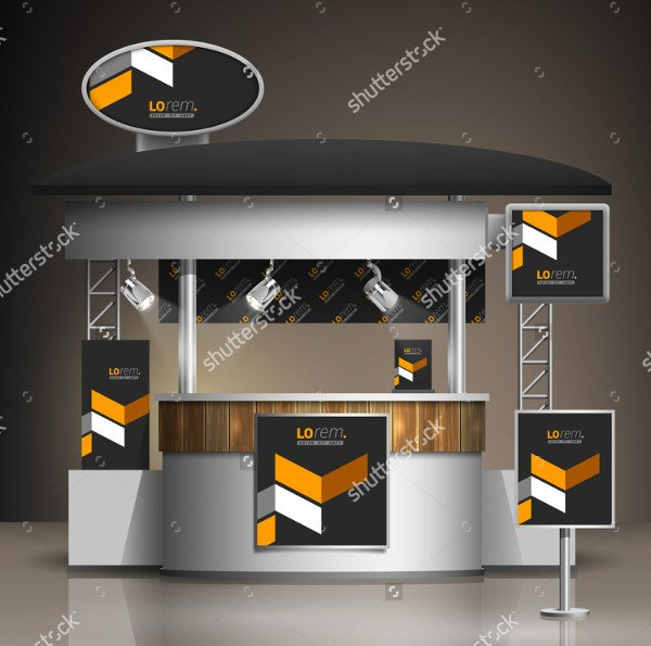 Classic Booth Mockup Template