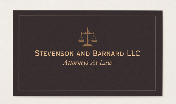 Classic Attorney Business Card Template