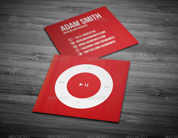Mini Music Business Card Template
