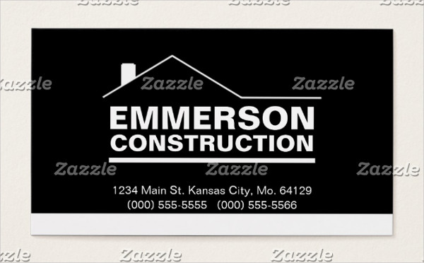 Classic Construction Business Card Template