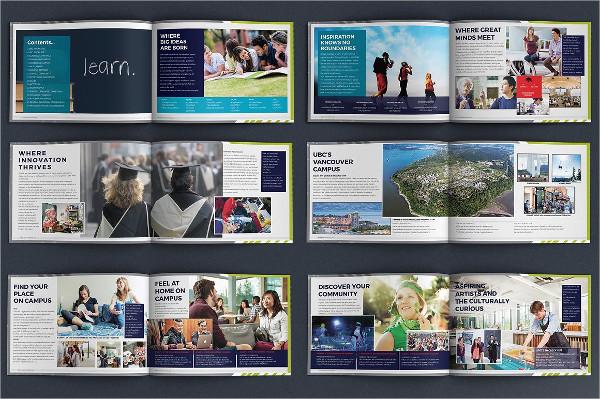 Modern Design University Brochures