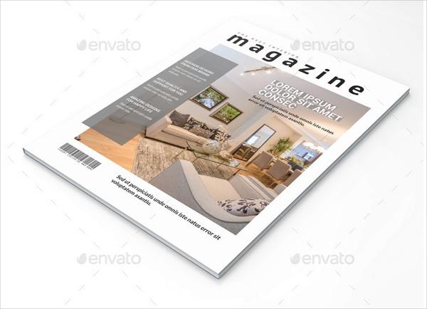 Clean Interior Magazine Template