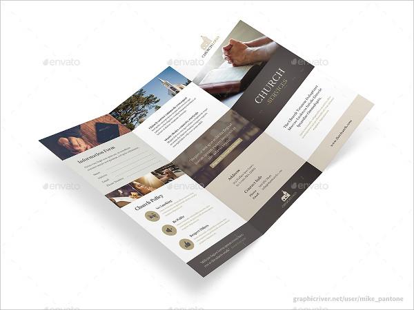 Clean & Modern Tri-Fold Brochure for Church