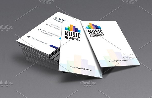 Clean Music Studio Business Card Template