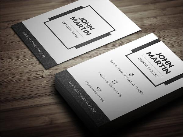 Clean Royal Individual Business Card