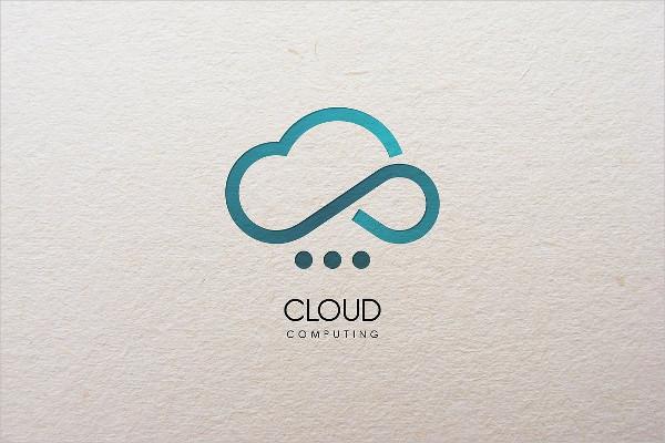 Fully Editable Cloud Computing Logo Template