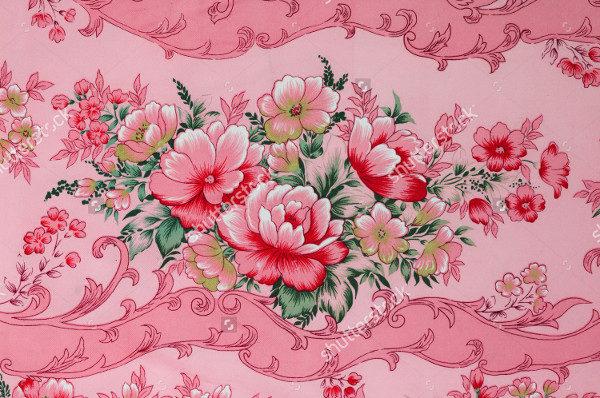 Colorful Retro Textile Pattern