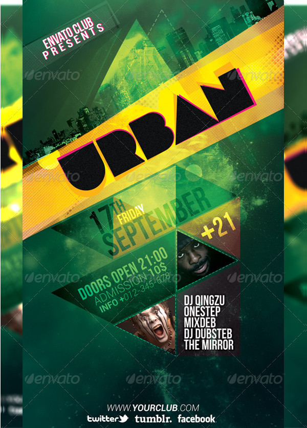 Colorful Urban Flyer Template