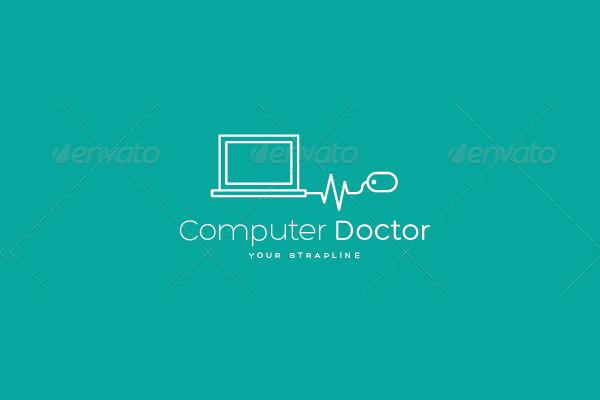 Computer Doctor Logo Template