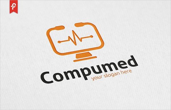 Computer Medical Logo Template