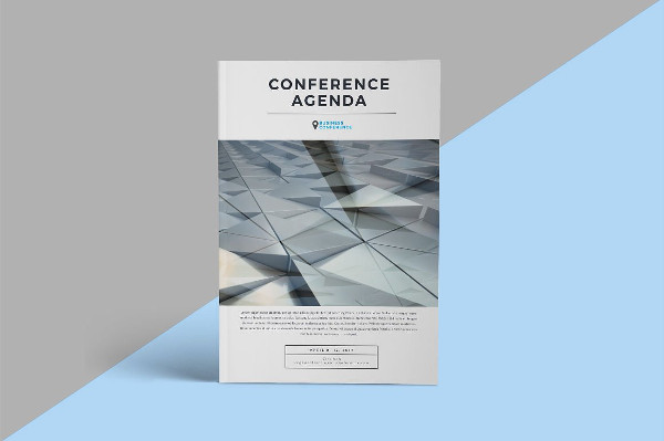 Conference Agenda Brochure Template