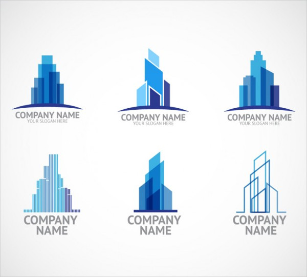 Construction Company Logo Templates Free Vector