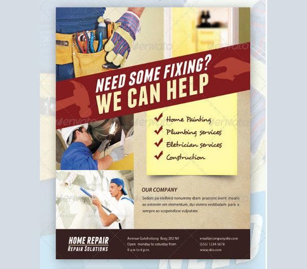 House Repair Advertising Flyer Template
