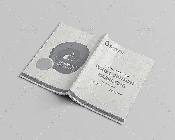 Digital Content Marketing A4 Brochure