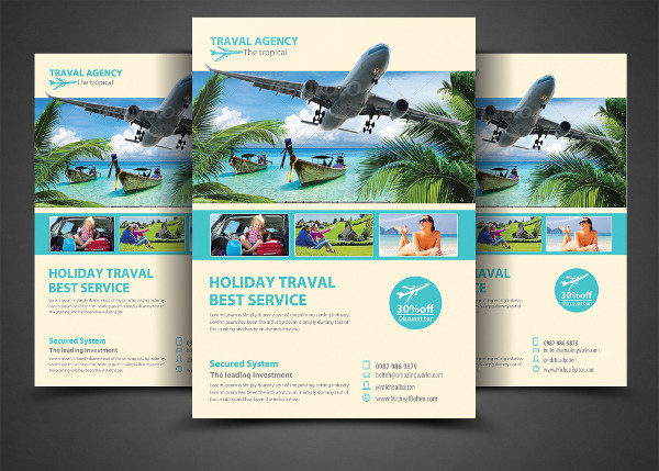Travel Agency Corporate Flyer Template