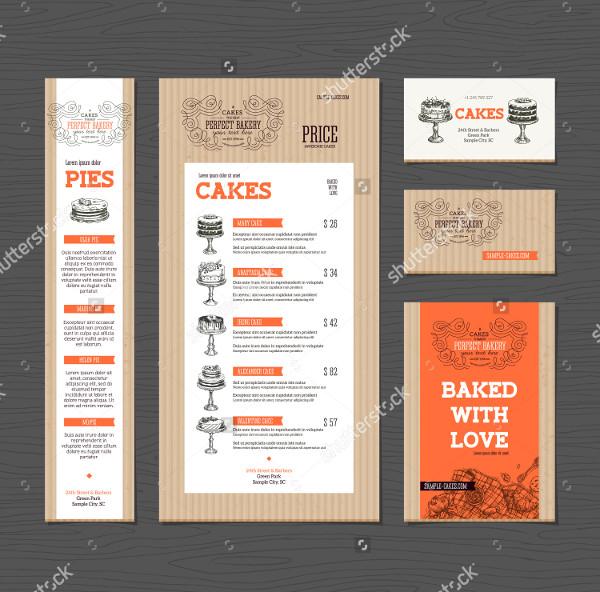 Corporate Bakery Menu Template