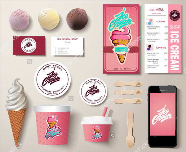 Corporate Ice Cream Menu Template