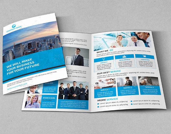 Corporate Marketng Bifold Brochure