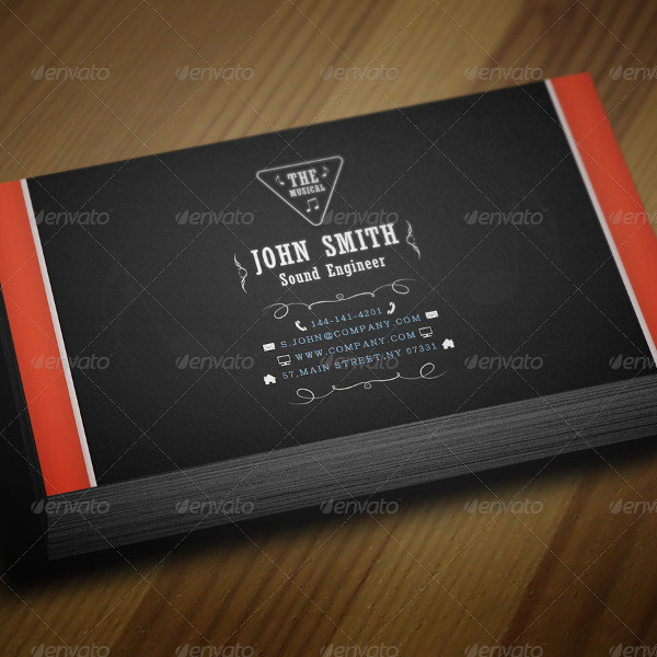Music Artist Business Card Template
