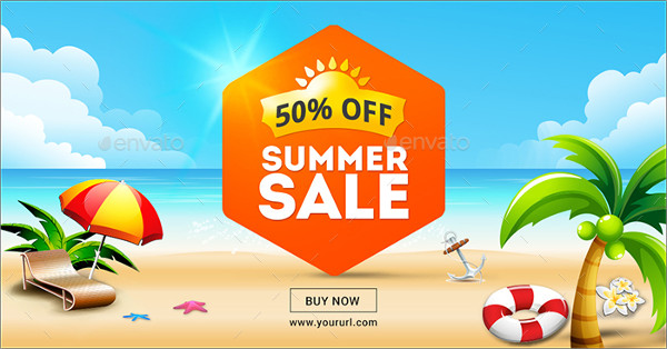 Editable Summer Sale Banner