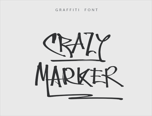 Crazy Marker Graffiti Fonts