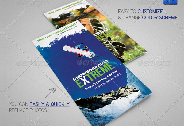 Extreme Sports Event Brochure Template