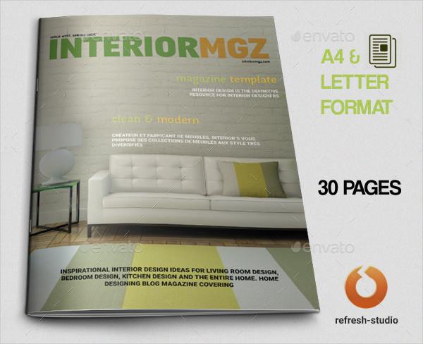 Customizable Interior Magazine Template