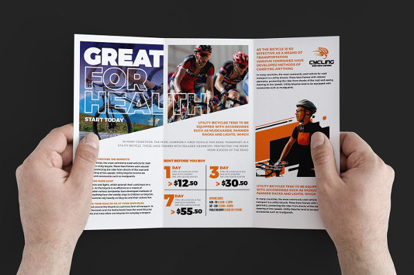 Cycling Trifold Brochure Template