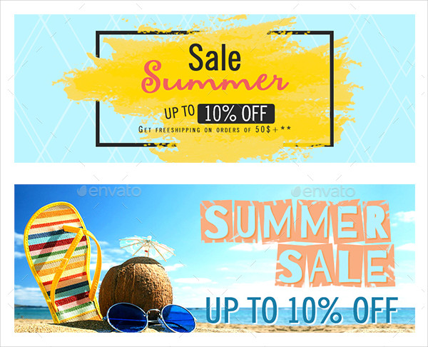 Perfect Summer Sale Banners