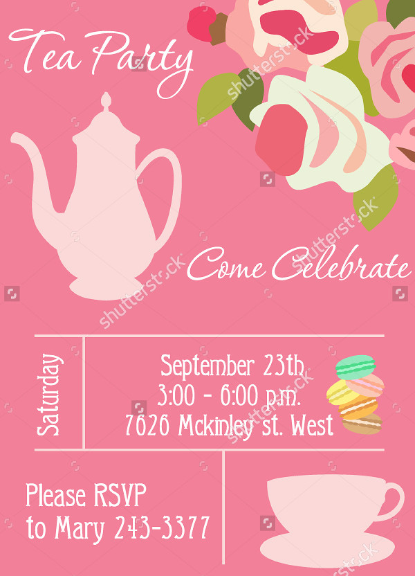 Delicious Tea Party Card Template