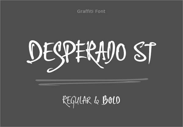 Desperado st Graffiti Font
