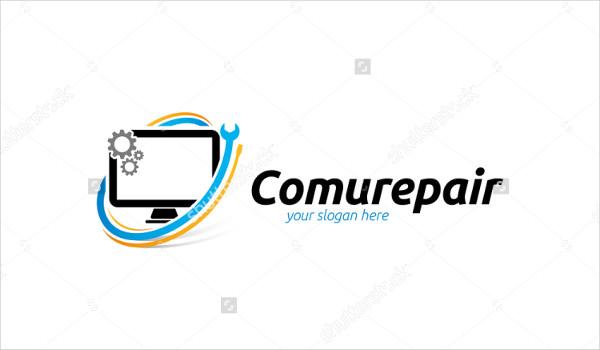 Unique Computer Repair Logo Template