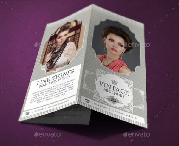 Vintage Jewelry Brochure Design