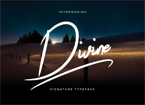 Divine Signature Brush Font