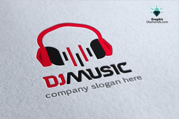 DJ Music Company Logo Template