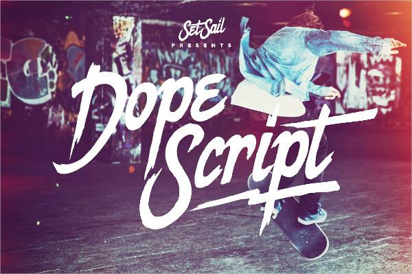 Dope Script Font