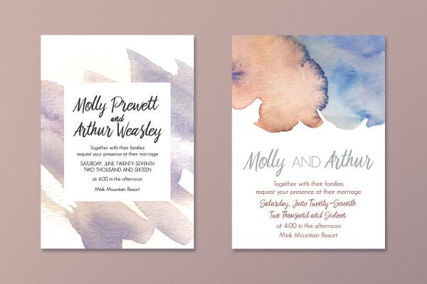 Dreamy Watercolor Invitations Collection