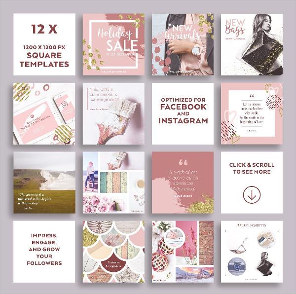 Dusty Pink Instagram Banner Pack