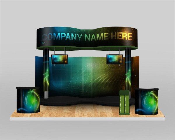 Easy Customizable Booth Mock-Ups