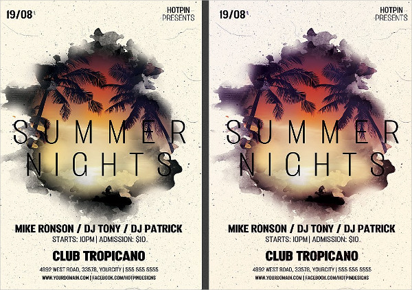 Electro Summer Party Flyer Template